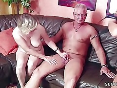Threesome sex tube - tubo de abuela madura